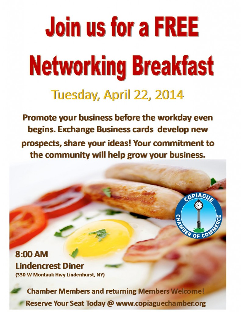 networking breakfast ad